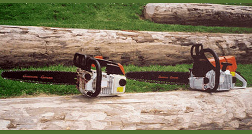 Cannon bars fitted to Stihl and Husqvarna saws